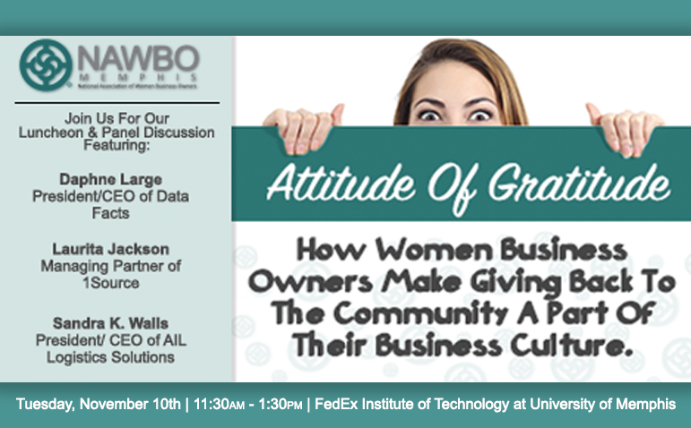 Attitude of Gratitude: How Women Business Owners Make Giving Back To The Community A Part Of Their Business Culture.